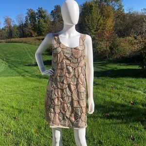 Romeo & Juliet Couture nude sequence dress